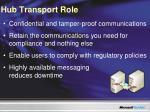 hub transport role