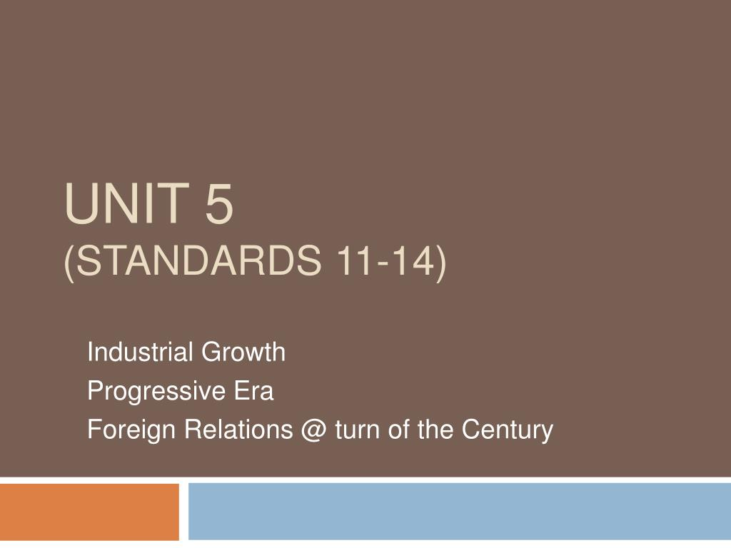 unit 5 standards 11 14 l.