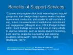 benefits of support services