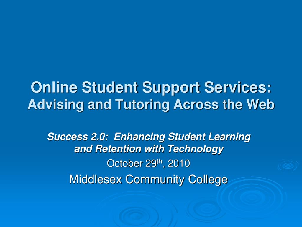 online student support services advising and tutoring across the web l.
