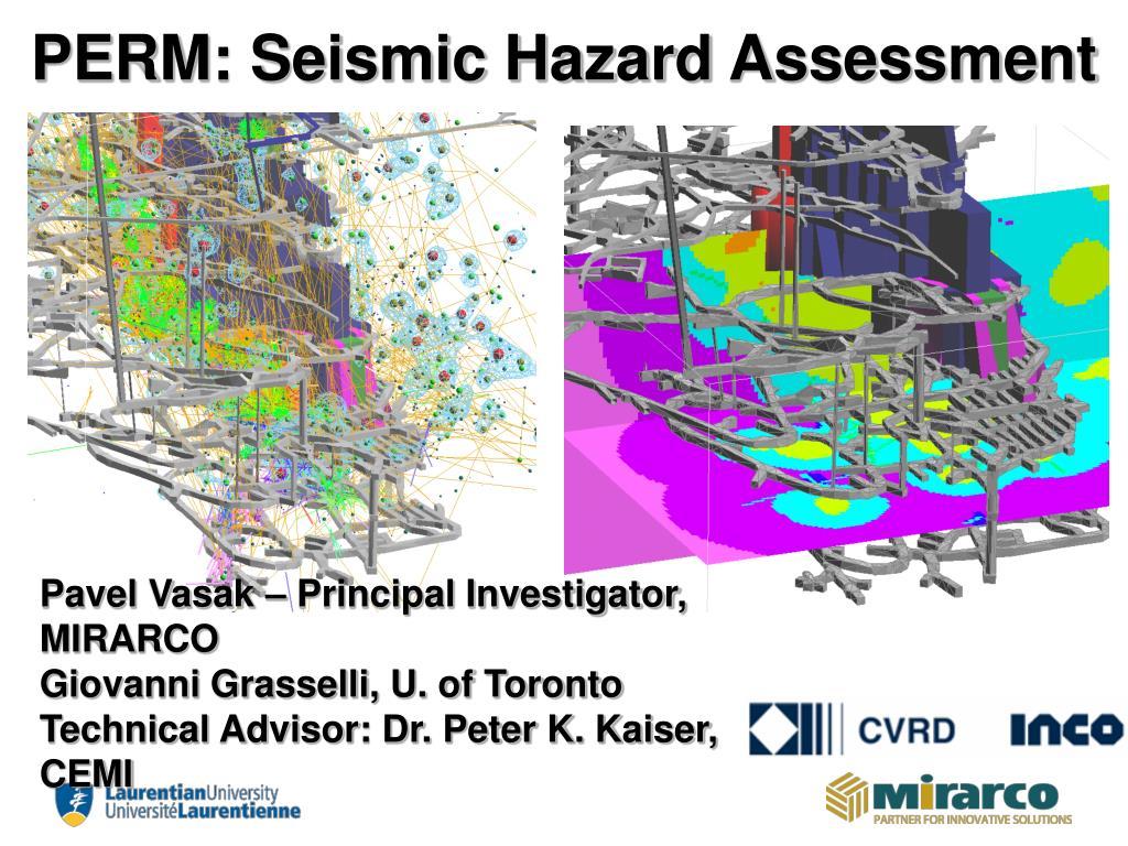 perm seismic hazard assessment l.