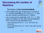 decreasing the number of relations22
