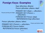foreign keys examples