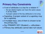 primary key constraints