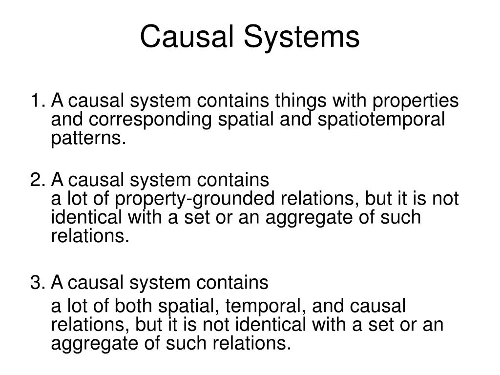 Causal Systems