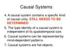 causal systems96