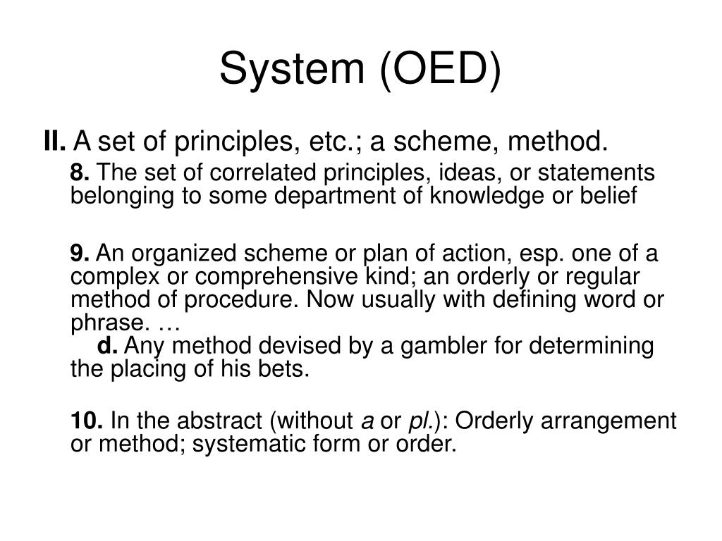 System (OED)