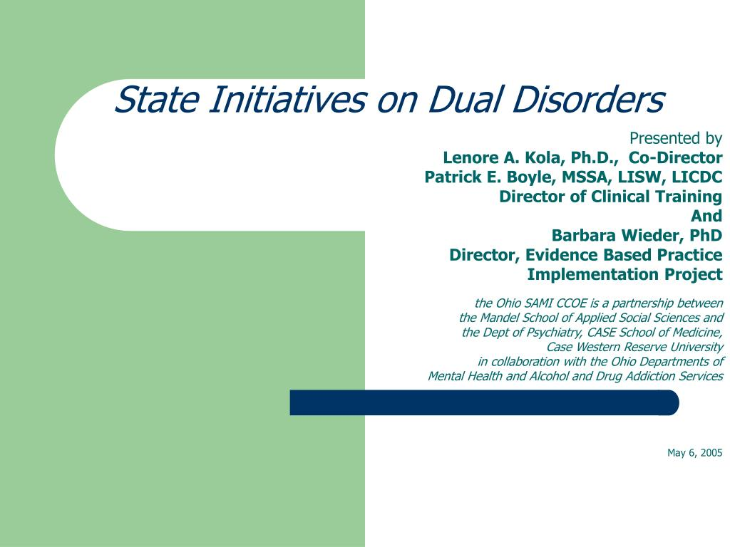 state initiatives on dual disorders l.