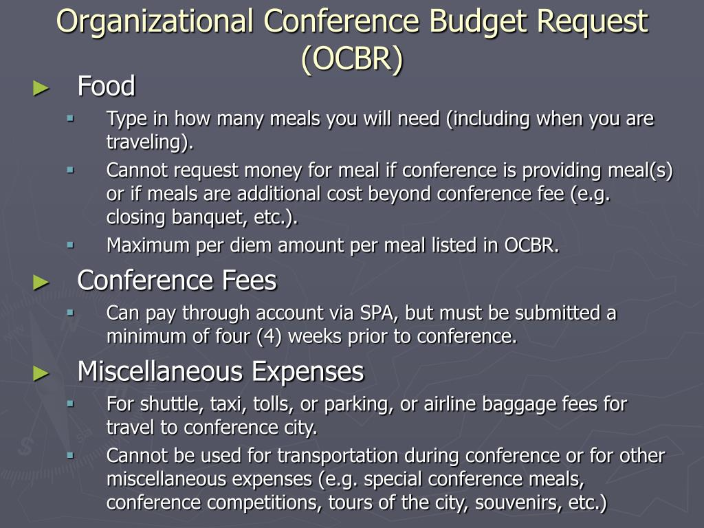 Organizational Conference Budget Request