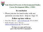 yale school of forestry environmental studies career development office cdo9