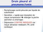 drain pleural et pneumonectomie