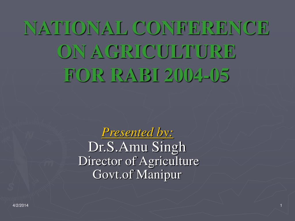 national conference on agriculture for rabi 2004 05 l.