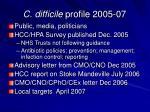 c difficile profile 2005 07