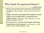 why study occupational regret