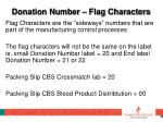donation number flag characters