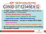 isbt 128 donation number