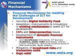 financial mechanisms
