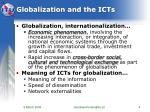globalization and the icts4