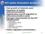 ict sector innovation dynamics