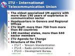itu international telecommunication union