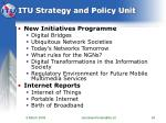 itu strategy and policy unit