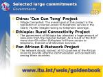 selected large commitments governments