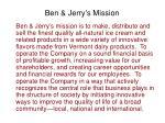 ben jerry s mission