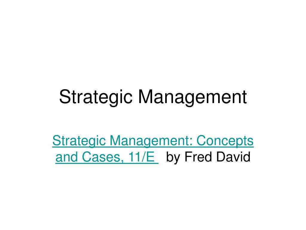 strategic management l.