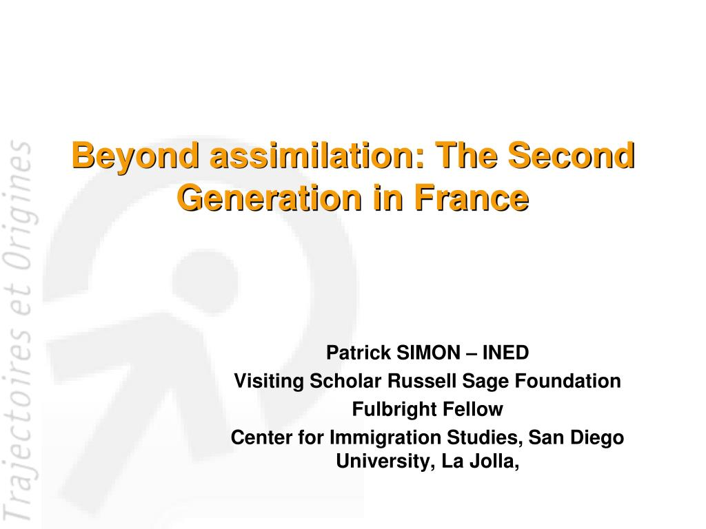 beyond assimilation the second generation in france l.