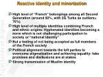reactive identity and minorization
