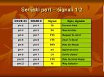 serijski port signali 1 2