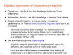 empirical approaches in computational linguistics