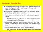 summary introduction