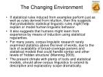 the changing environment