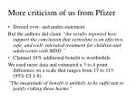 more criticism of us from pfizer