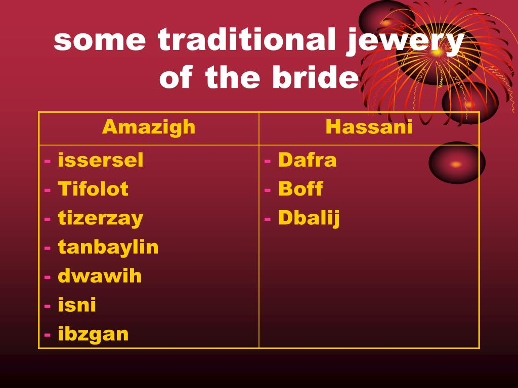 some traditional jewery of the bride