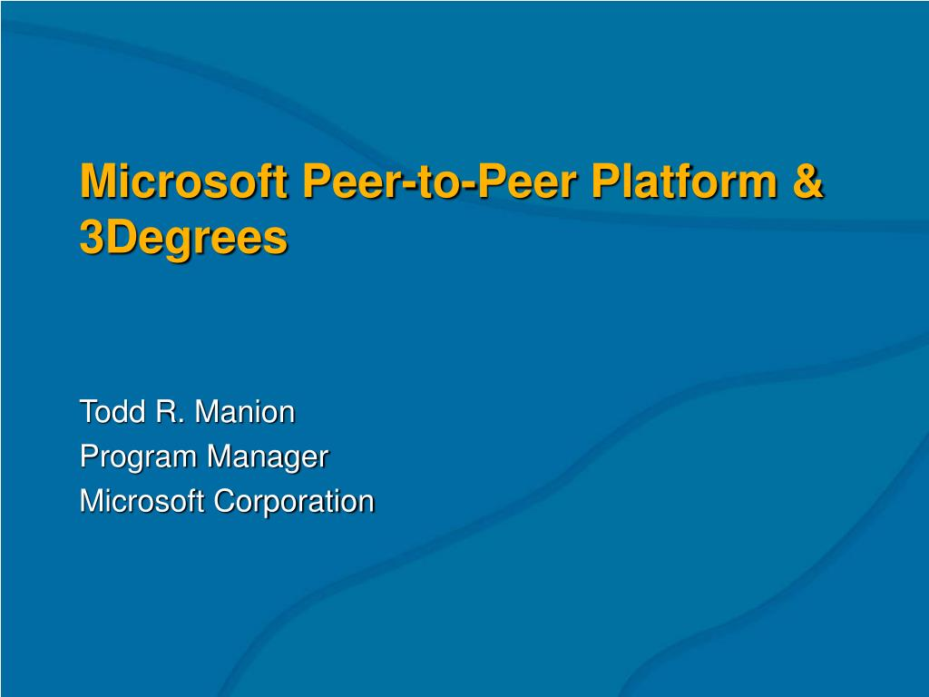 microsoft peer to peer platform 3degrees l.