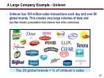 a large company example unilever