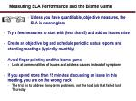 measuring sla performance and the blame game