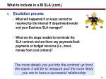 what to include in a bi sla cont54