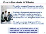 xp and the blueprinting the sap bi solution