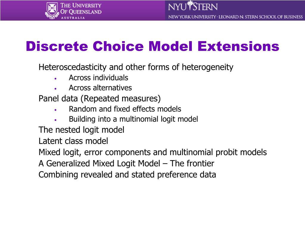 Discrete Choice Model Extensions