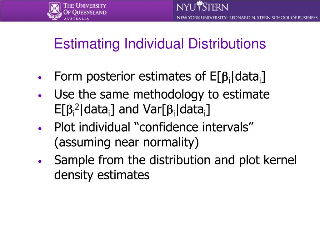 Estimating Individual Distributions