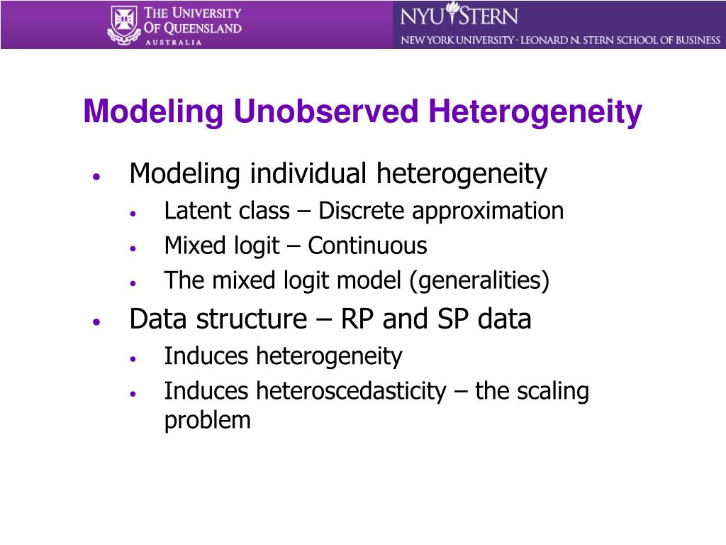 Modeling Unobserved Heterogeneity