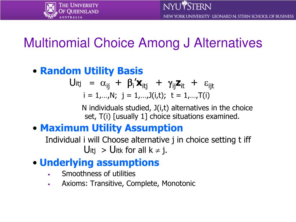 Multinomial Choice Among J Alternatives
