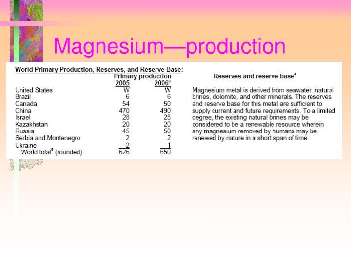 Magnesium—production