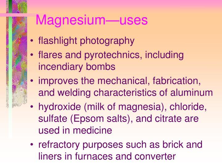 Magnesium—uses