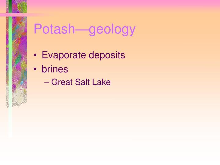 Potash—geology