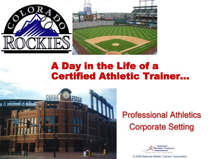 a day in the life of a certified athletic trainer n.