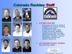 colorado rockies staff
